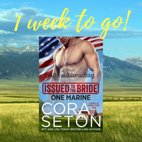 One week to go: Issued to the Bride One Marine